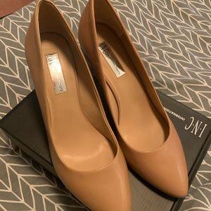 INC nude heels